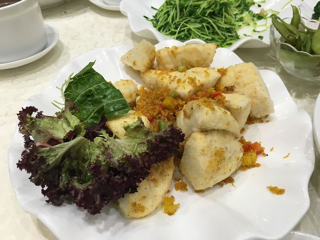 """Photo of Gaia Veggie Shop - Wong Tai SIn  by <a href=""""/members/profile/Veg4Jay"""">Veg4Jay</a> <br/>Silky Bean Curd with Pepper & Salt <br/> April 17, 2018  - <a href='/contact/abuse/image/52877/387141'>Report</a>"""