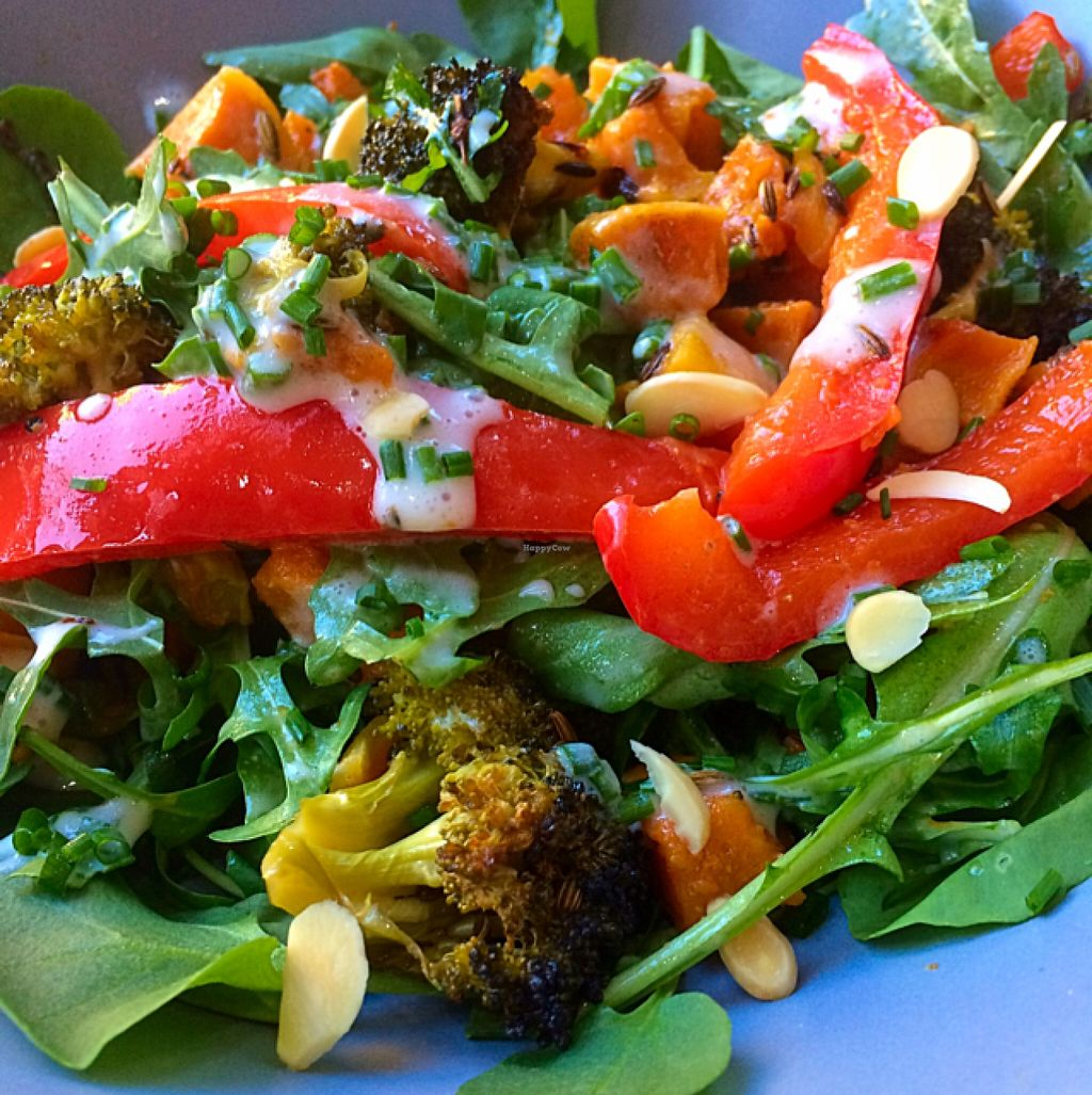 """Photo of CLOSED: Black Bear Cafe  by <a href=""""/members/profile/CiaraSlevin"""">CiaraSlevin</a> <br/>Curried broccoli salad (Vegan) <br/> May 28, 2016  - <a href='/contact/abuse/image/52889/151136'>Report</a>"""