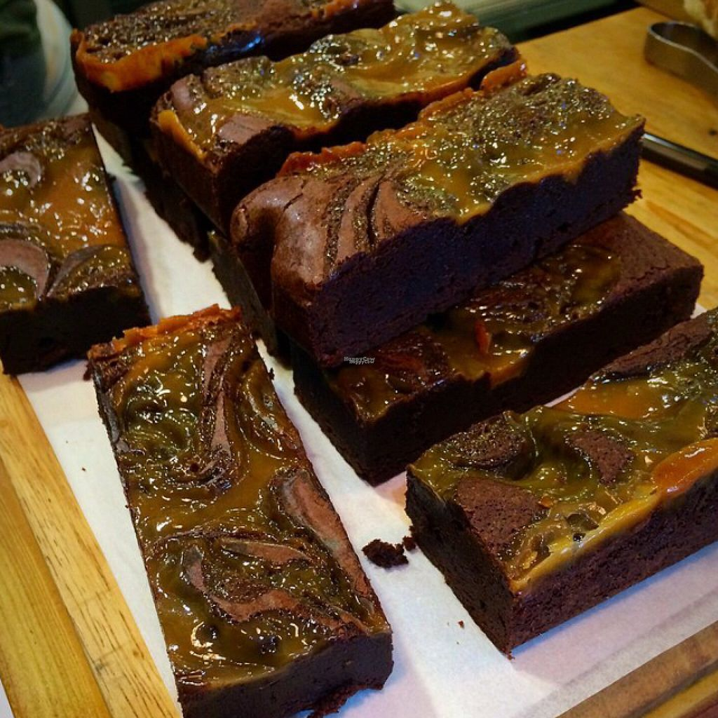 """Photo of CLOSED: Black Bear Cafe  by <a href=""""/members/profile/CiaraSlevin"""">CiaraSlevin</a> <br/>Vegan salted caramel brownies <br/> August 23, 2016  - <a href='/contact/abuse/image/52889/171059'>Report</a>"""
