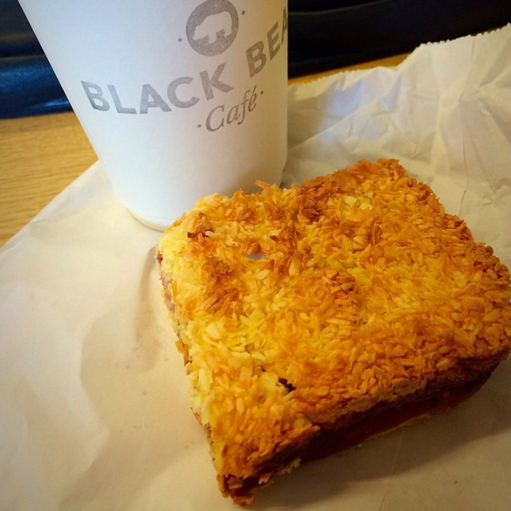 """Photo of CLOSED: Black Bear Cafe  by <a href=""""/members/profile/CiaraSlevin"""">CiaraSlevin</a> <br/>Vegan jam & coconut square  <br/> August 23, 2016  - <a href='/contact/abuse/image/52889/171060'>Report</a>"""