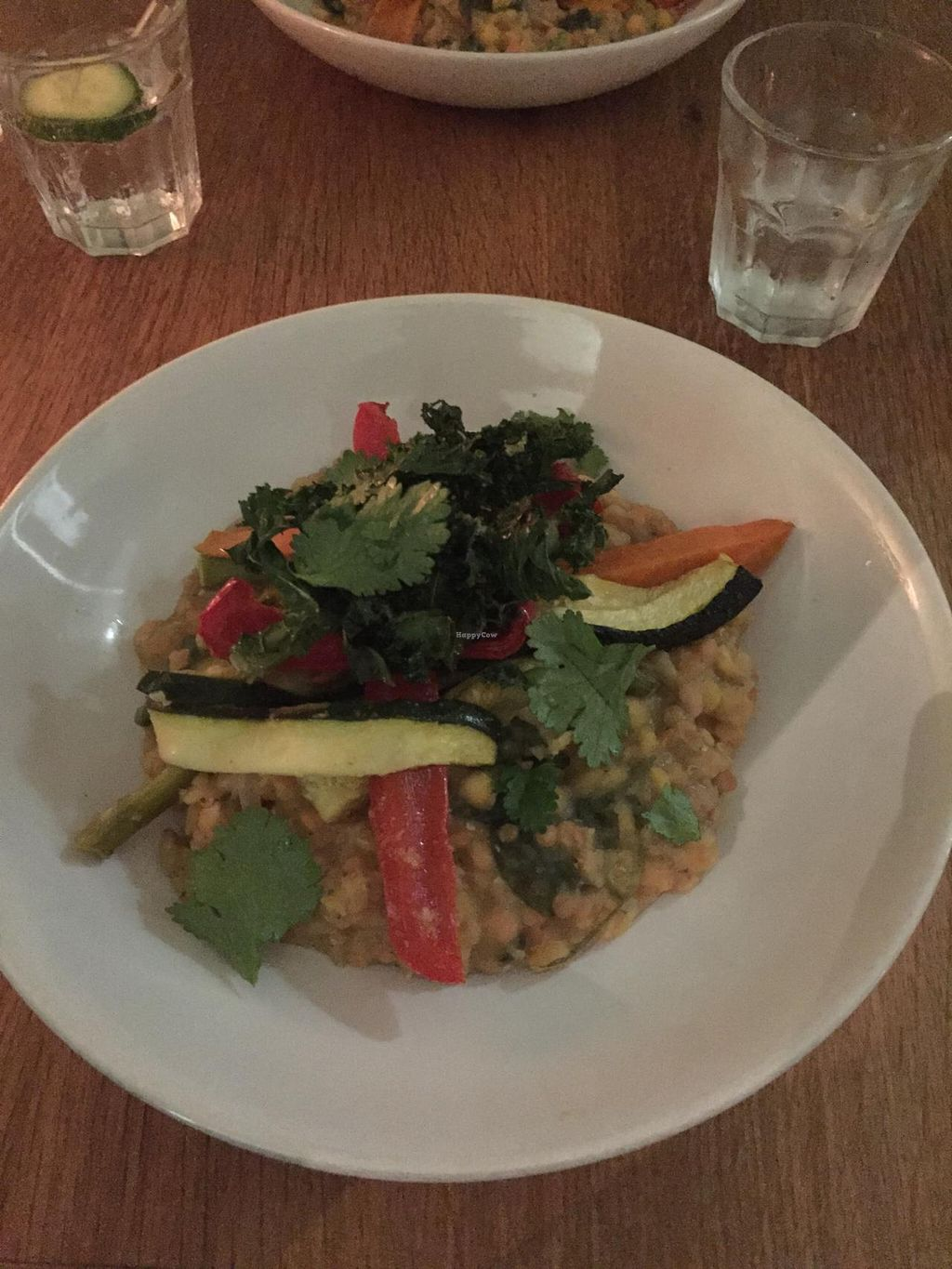 """Photo of CLOSED: Black Bear Cafe  by <a href=""""/members/profile/sriblet"""">sriblet</a> <br/>Vegan Garlic Lentils with Roasted Vegetables and Crispy Kale <br/> November 30, 2014  - <a href='/contact/abuse/image/52889/86865'>Report</a>"""