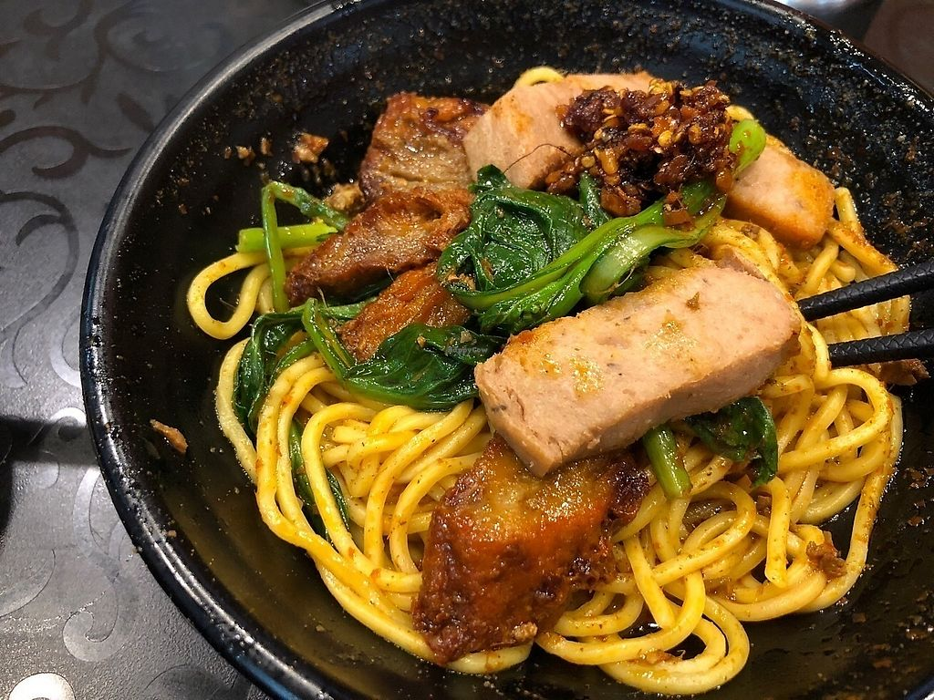 """Photo of So Yuet Hin  by <a href=""""/members/profile/SamanthaIngridHo"""">SamanthaIngridHo</a> <br/>Cart noodles (with vegan BBQ pork, spam) <br/> April 11, 2018  - <a href='/contact/abuse/image/52912/383932'>Report</a>"""