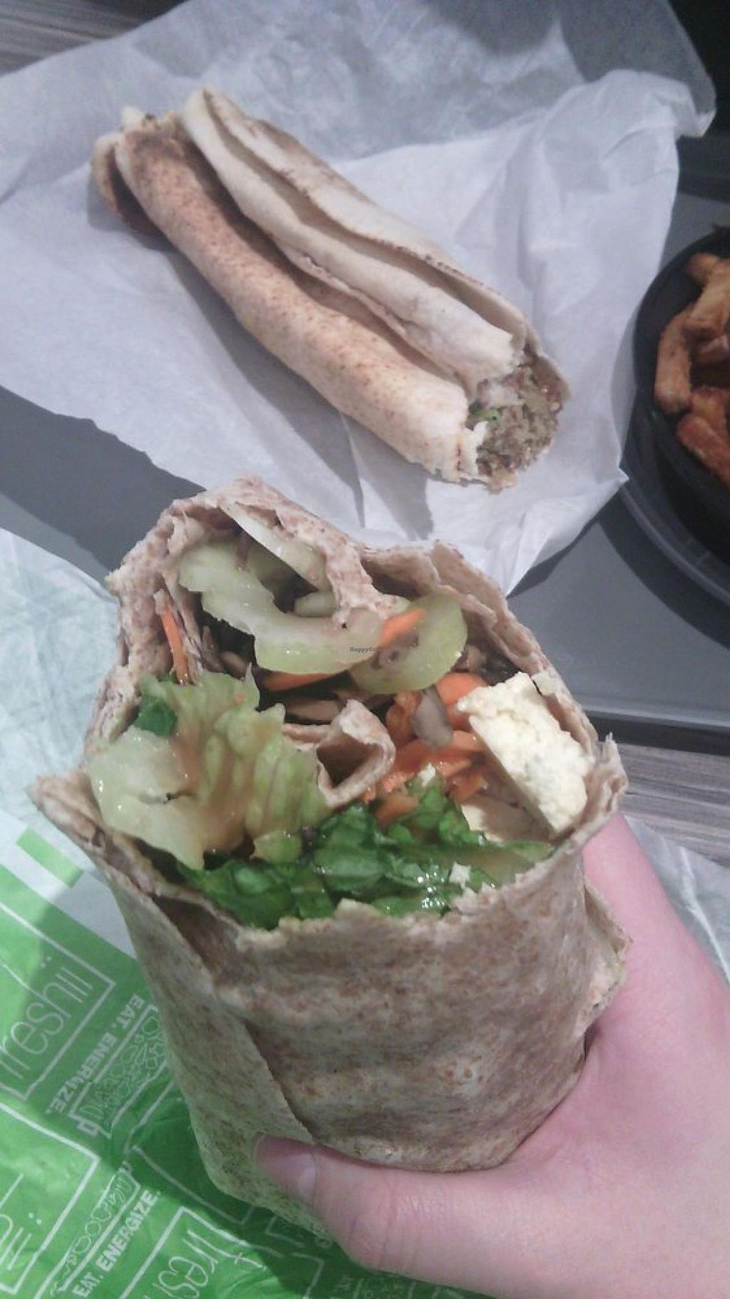 "Photo of freshii  by <a href=""/members/profile/QuothTheRaven"">QuothTheRaven</a> <br/>Custom vegan wrap  <br/> December 6, 2014  - <a href='/contact/abuse/image/52942/87363'>Report</a>"