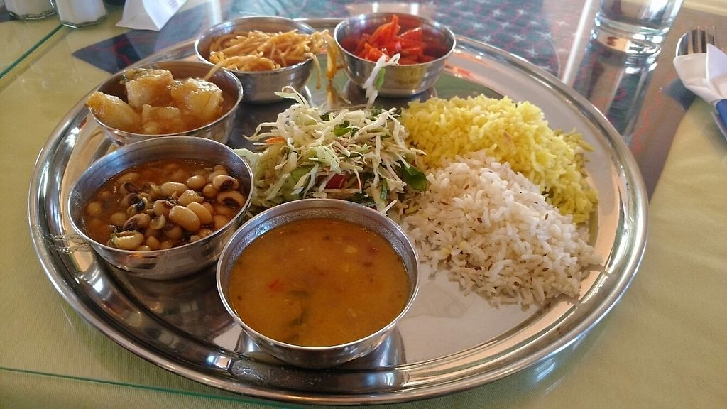 """Photo of CLOSED: Mirch  by <a href=""""/members/profile/chrisvobe"""">chrisvobe</a> <br/>A plate full of vegan options! Yum! <br/> May 10, 2017  - <a href='/contact/abuse/image/52946/257523'>Report</a>"""