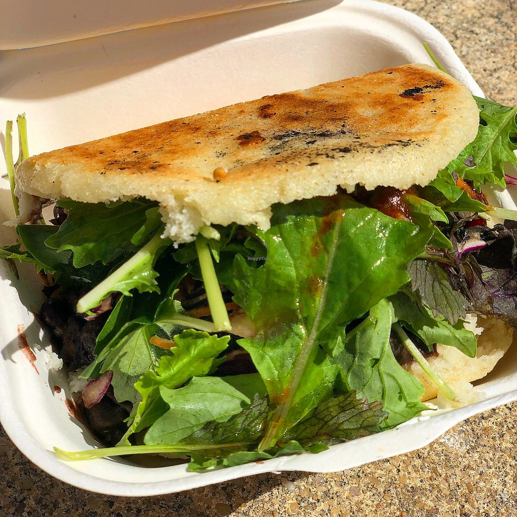 """Photo of Caribe Latin Kitchen  by <a href=""""/members/profile/ben_eitel"""">ben_eitel</a> <br/>Domino Arepa - black beans <br/> March 11, 2018  - <a href='/contact/abuse/image/52953/369103'>Report</a>"""