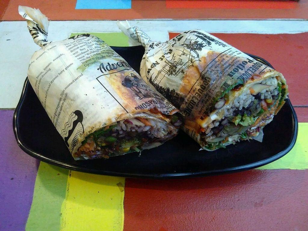 "Photo of Caribe Latin Kitchen  by <a href=""/members/profile/kolaj"">kolaj</a> <br/>Tasty vegan burrito for $13.50 <br/> March 21, 2018  - <a href='/contact/abuse/image/52953/373613'>Report</a>"