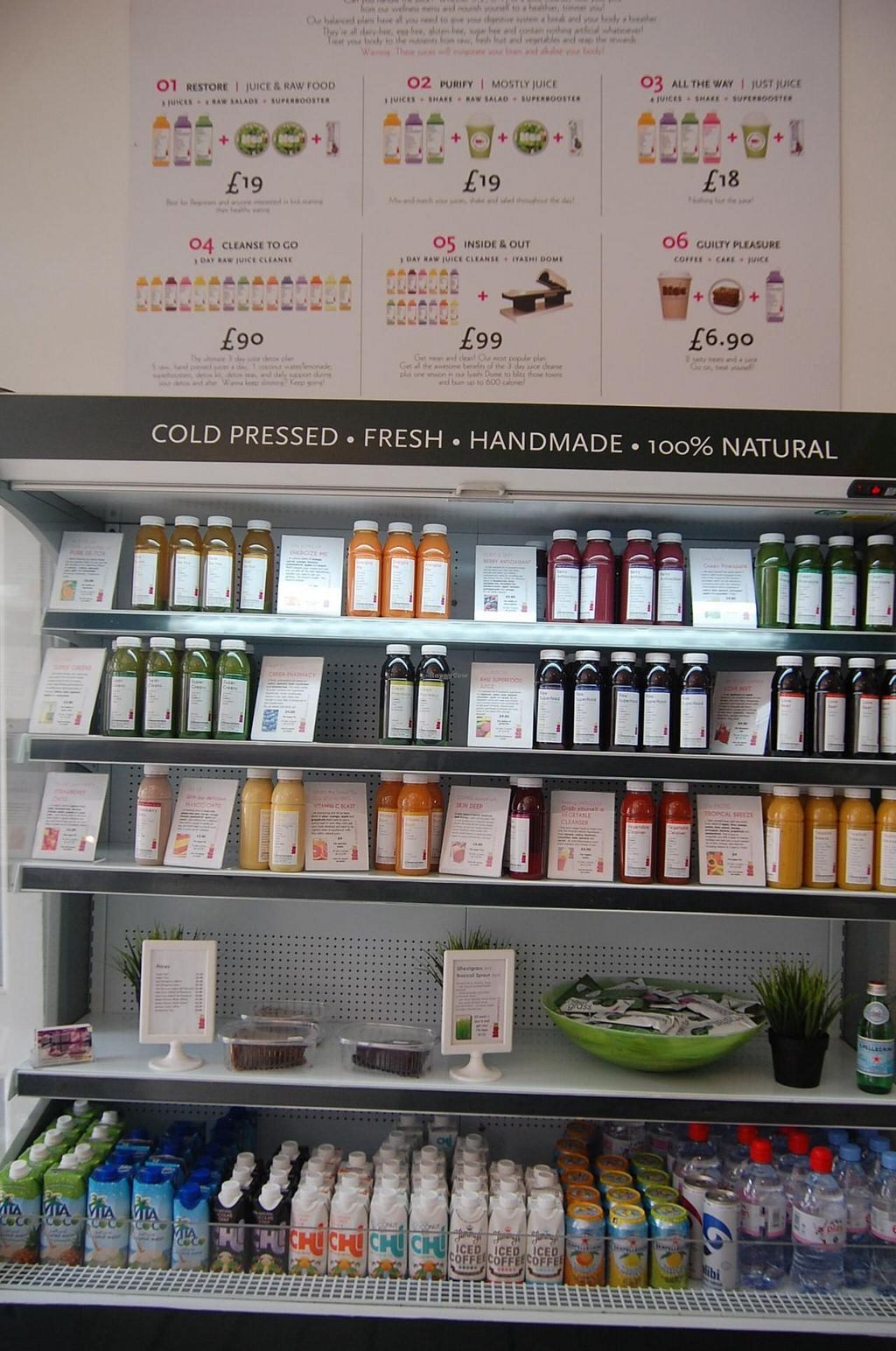 """Photo of Spa Juice Bar - Greenwich  by <a href=""""/members/profile/Clare"""">Clare</a> <br/>Fresh juices (power up your life!!) <br/> June 18, 2015  - <a href='/contact/abuse/image/52958/106413'>Report</a>"""