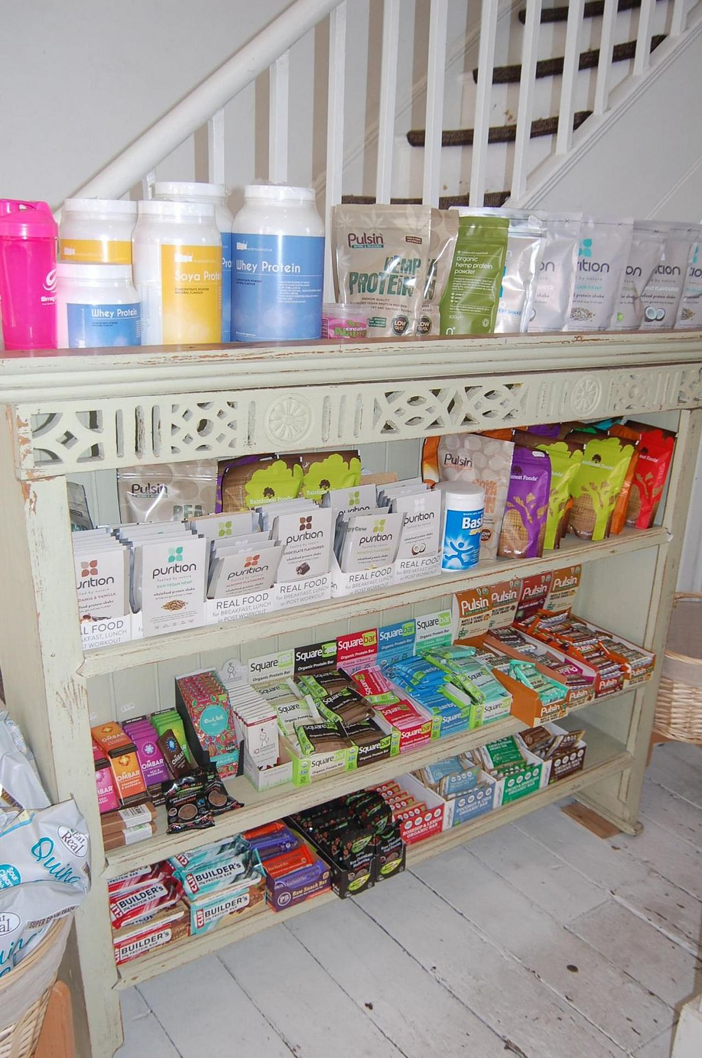"""Photo of Spa Juice Bar - Greenwich  by <a href=""""/members/profile/Clare"""">Clare</a> <br/>Protein Bars and powders <br/> June 18, 2015  - <a href='/contact/abuse/image/52958/106415'>Report</a>"""