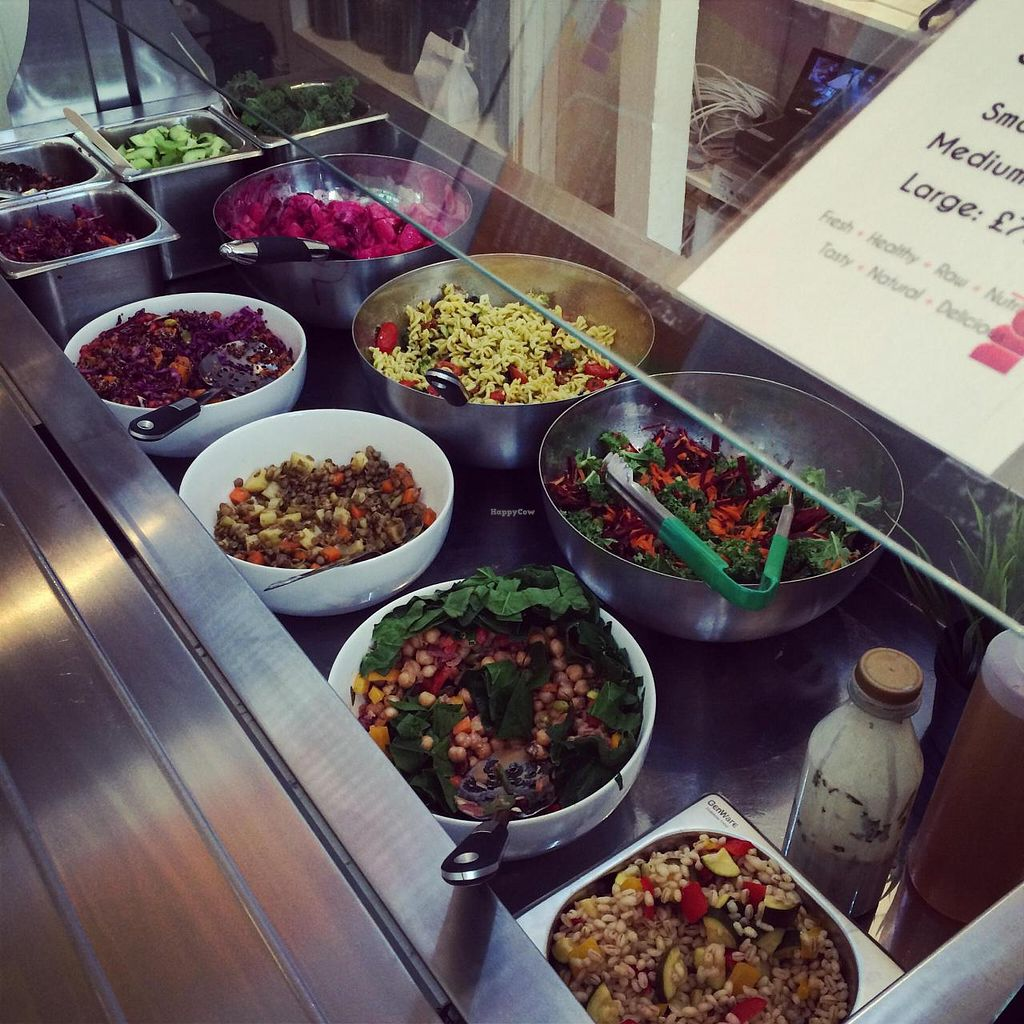 """Photo of Spa Juice Bar - Greenwich  by <a href=""""/members/profile/bethany_m"""">bethany_m</a> <br/>Vegan and gluten-free salad bar - delicious! <br/> November 20, 2014  - <a href='/contact/abuse/image/52958/86057'>Report</a>"""