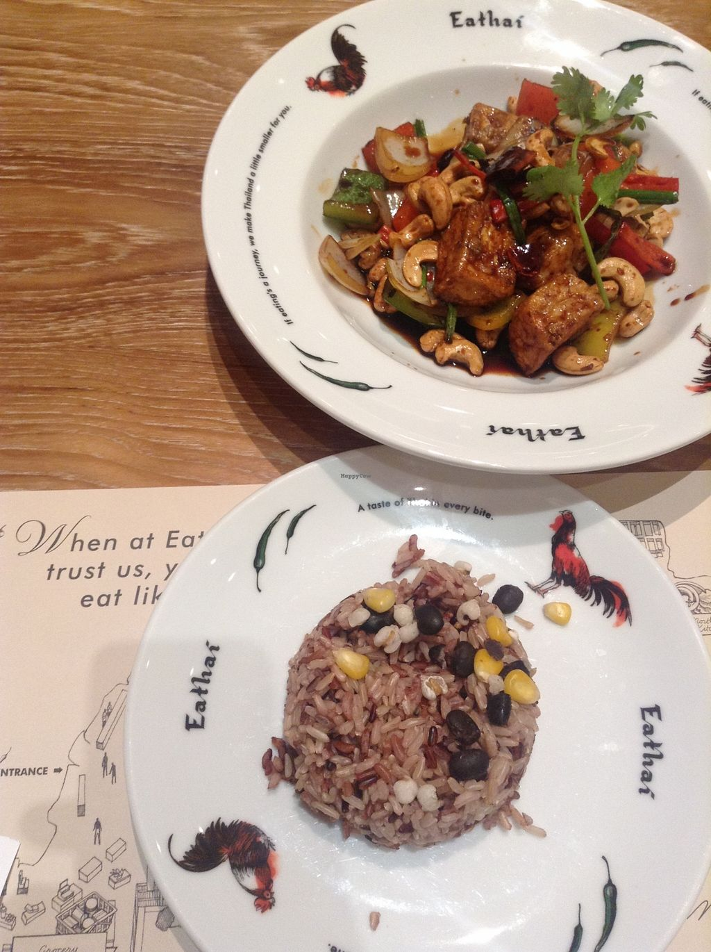 """Photo of Khun Churn - Eathai  by <a href=""""/members/profile/YozzyOti"""">YozzyOti</a> <br/>brown rice and fried vegetable with cashew nuts <br/> September 24, 2015  - <a href='/contact/abuse/image/52986/118966'>Report</a>"""