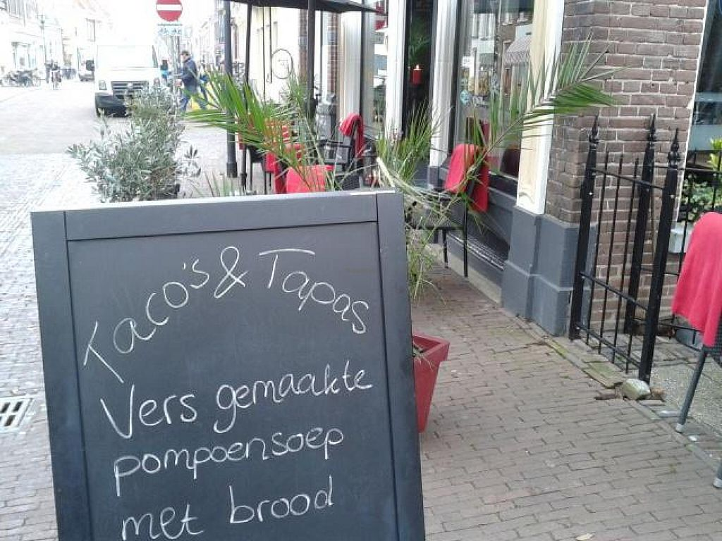 "Photo of Tacos en Tapas  by <a href=""/members/profile/samsammetje"">samsammetje</a> <br/>Welcom at Taco's and Tapas! Perfect place to be for café, lunch, dining or catering <br/> November 29, 2014  - <a href='/contact/abuse/image/53032/86706'>Report</a>"