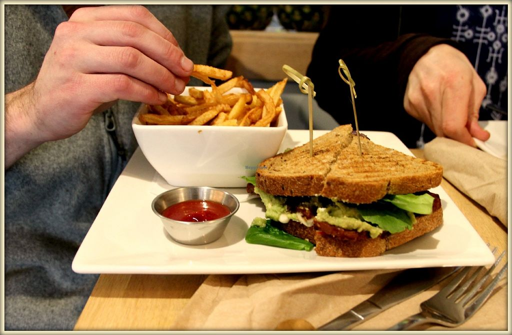 """Photo of Pure Kitchen - Richmond Rd  by <a href=""""/members/profile/GypsyGreenstone"""">GypsyGreenstone</a> <br/>sandwich and fries <br/> June 14, 2016  - <a href='/contact/abuse/image/53042/153853'>Report</a>"""