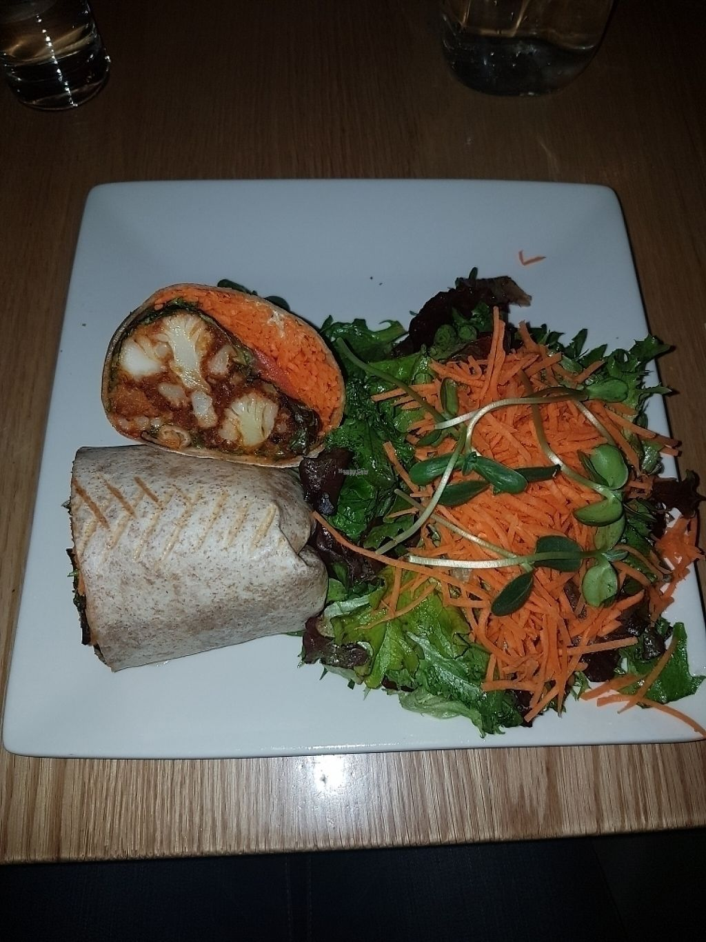 """Photo of Pure Kitchen - Richmond Rd  by <a href=""""/members/profile/Veganchick11"""">Veganchick11</a> <br/>deep fried cauliflower wrap <br/> April 29, 2017  - <a href='/contact/abuse/image/53042/253887'>Report</a>"""