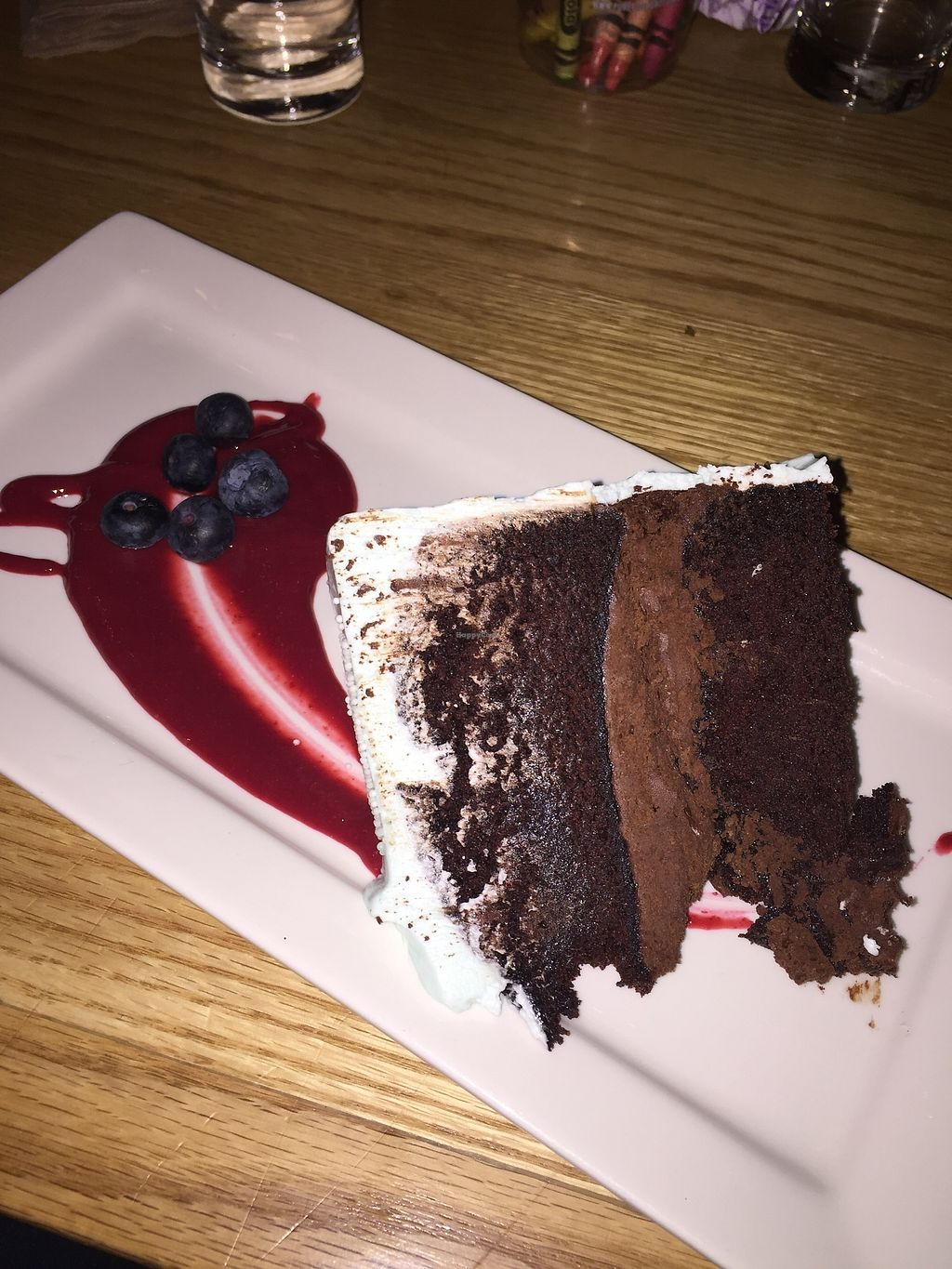 """Photo of Pure Kitchen - Richmond Rd  by <a href=""""/members/profile/KarinaChartrand"""">KarinaChartrand</a> <br/>Vegan chocolate cake with vanilla frosting <br/> February 18, 2018  - <a href='/contact/abuse/image/53042/360607'>Report</a>"""