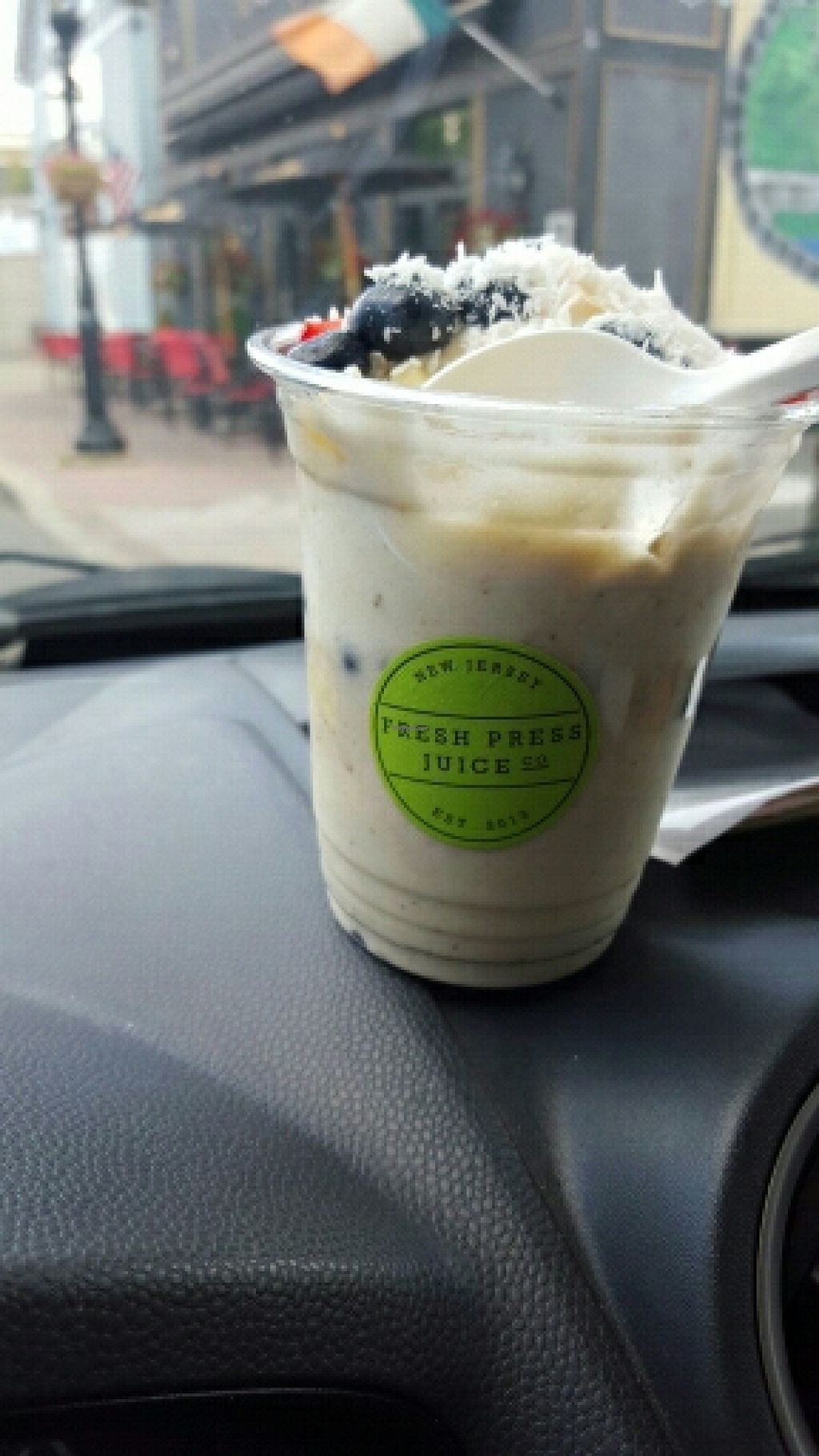 """Photo of Fresh Press Juice Co  by <a href=""""/members/profile/Fierrito"""">Fierrito</a> <br/>Banana whip , Amazing  <br/> June 30, 2016  - <a href='/contact/abuse/image/53057/157018'>Report</a>"""