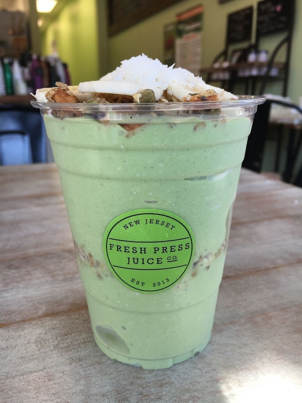 """Photo of Fresh Press Juice Co  by <a href=""""/members/profile/Mmille3258%40aol.com"""">Mmille3258@aol.com</a> <br/>Just loved the coconut bowl & they added some spinach in there too.  Owners are really friendly & knowledgable.   <br/> January 27, 2017  - <a href='/contact/abuse/image/53057/218008'>Report</a>"""