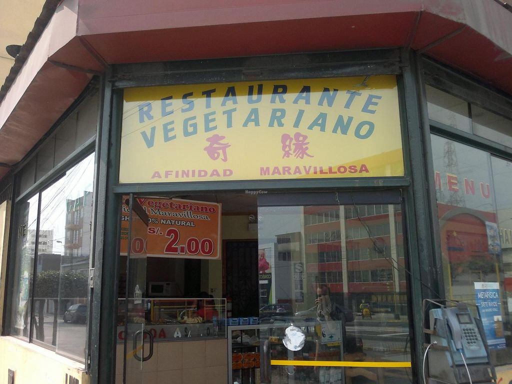 """Photo of Afinidad Maravillosa - Pueblo Libre  by <a href=""""/members/profile/Patapompon"""">Patapompon</a> <br/>Front window / entrance of the Vegetarian Restaurant 'Afinidad Maravillosa' in Pueblo Libre (avenida Brasil). Another restaurant is located in the Center, Jr. Carabaya #715 (Tlf: 771-7448) <br/> November 15, 2014  - <a href='/contact/abuse/image/53076/85735'>Report</a>"""