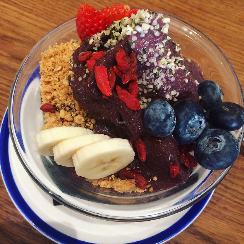 """Photo of Flax & Kale - Placa Castella  by <a href=""""/members/profile/MelissaWalker"""">MelissaWalker</a> <br/>açai bowl  <br/> January 4, 2017  - <a href='/contact/abuse/image/53077/207953'>Report</a>"""