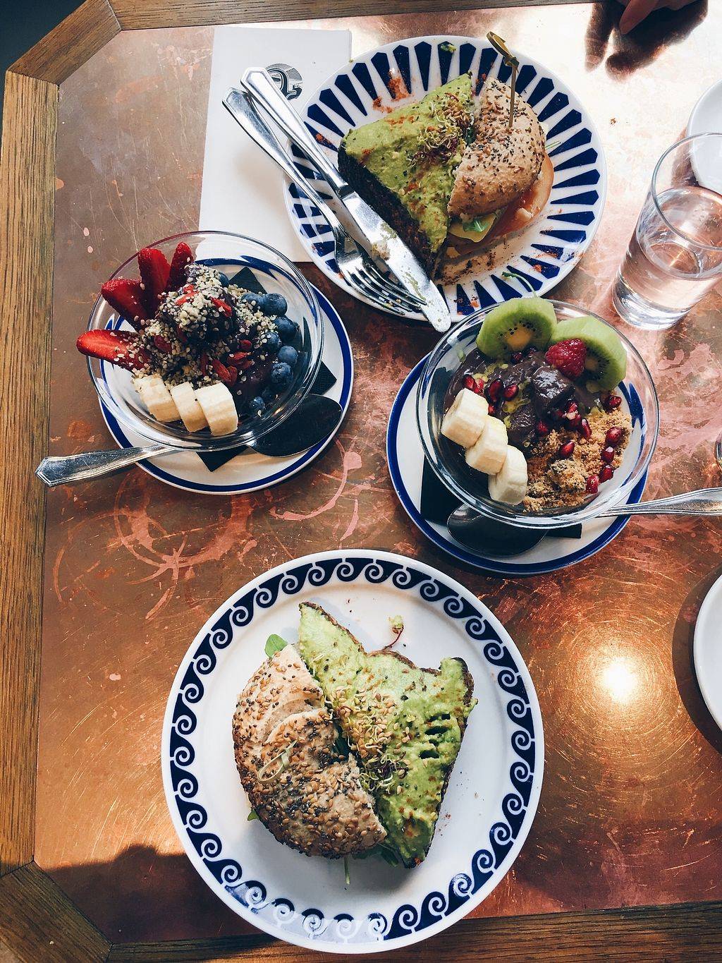 """Photo of Flax & Kale - Placa Castella  by <a href=""""/members/profile/Sara_Aurora"""">Sara_Aurora</a> <br/>Bagel with tempeh, avocado toast, acaitella bowl and a very happy tummy <br/> August 13, 2017  - <a href='/contact/abuse/image/53077/292416'>Report</a>"""