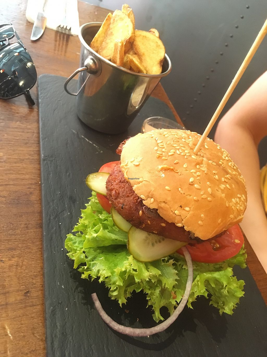 """Photo of Fat Pumpkin  by <a href=""""/members/profile/SuzyJones"""">SuzyJones</a> <br/>chickpea burger  <br/> August 12, 2017  - <a href='/contact/abuse/image/53101/291935'>Report</a>"""