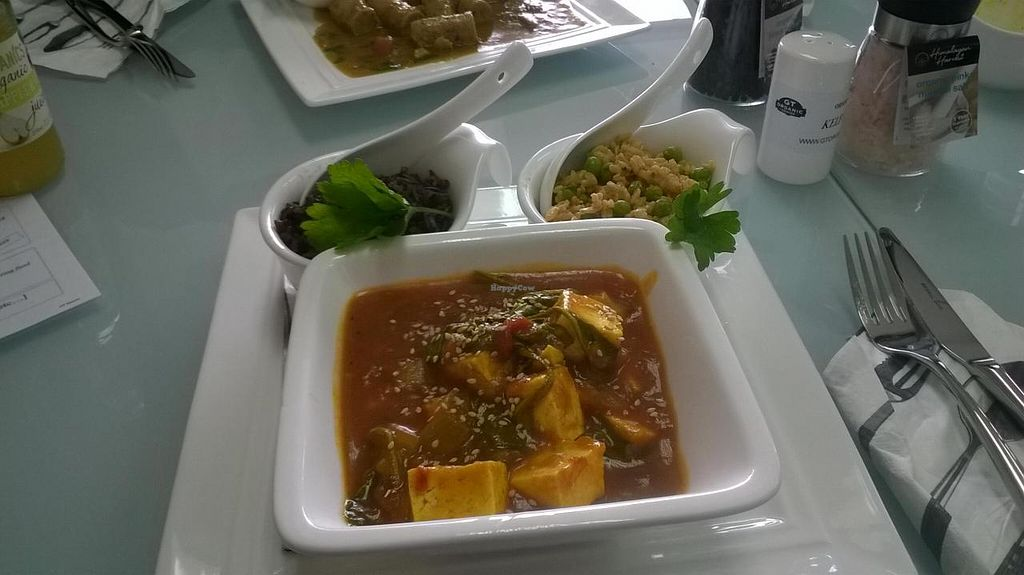 "Photo of CLOSED: GT Organics Cafe  by <a href=""/members/profile/Yolanda"">Yolanda</a> <br/>Tofu in apricot sauce with wild rice and a rice salad <br/> November 15, 2014  - <a href='/contact/abuse/image/53105/85671'>Report</a>"