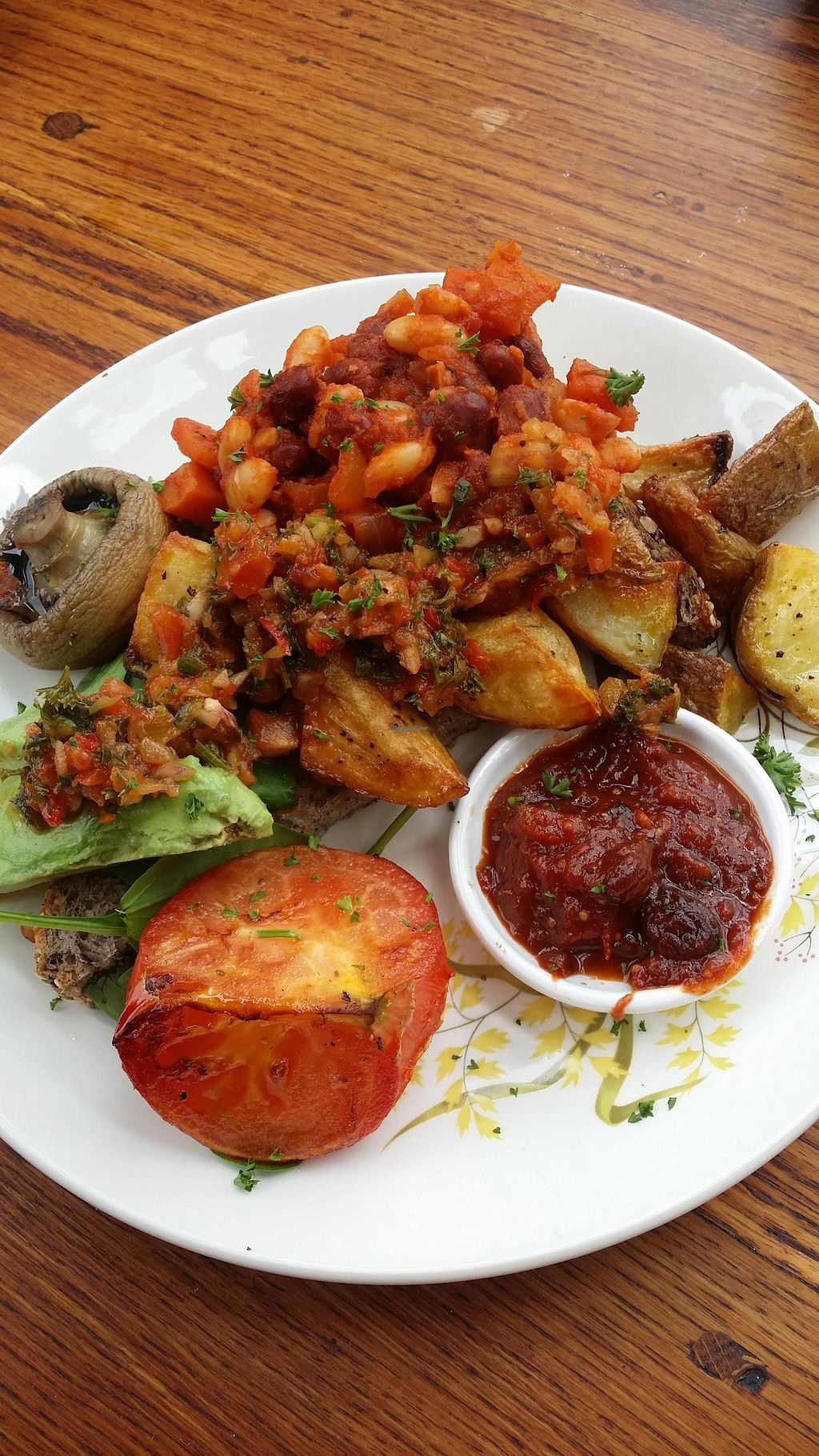 """Photo of The Shroom Room  by <a href=""""/members/profile/misstracee"""">misstracee</a> <br/>vegan breakfast plate <br/> December 4, 2014  - <a href='/contact/abuse/image/53106/87221'>Report</a>"""
