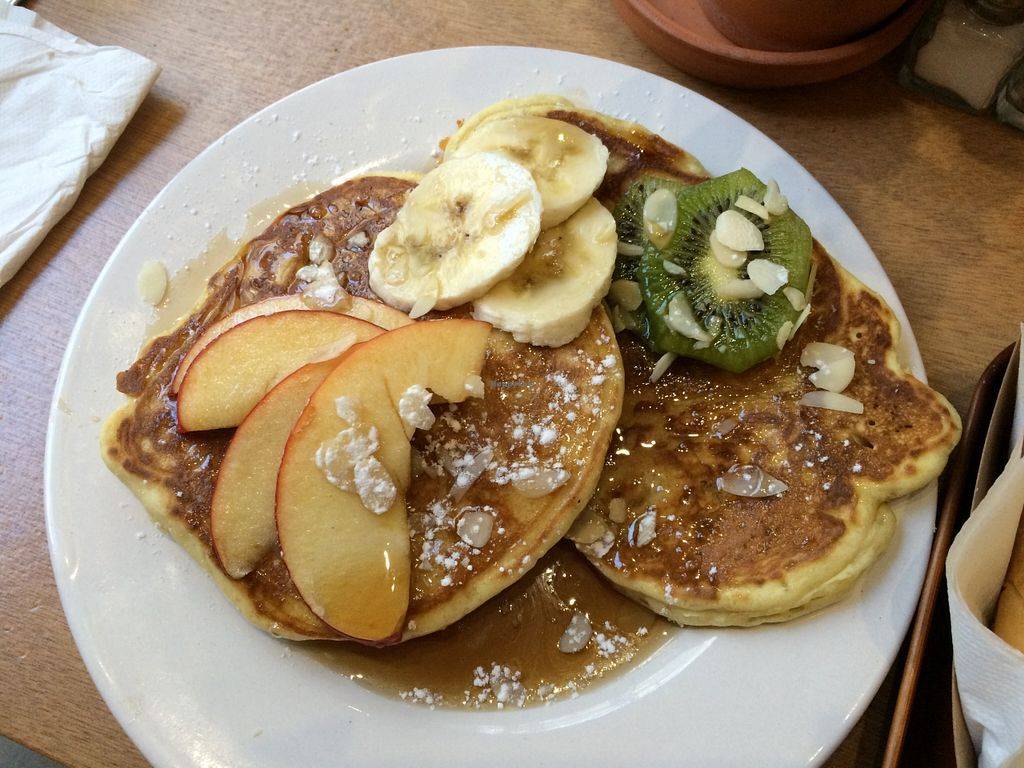 "Photo of Le Tricycle  by <a href=""/members/profile/LisaCupcake"">LisaCupcake</a> <br/>Vegan pancakes <br/> November 25, 2015  - <a href='/contact/abuse/image/53113/126163'>Report</a>"