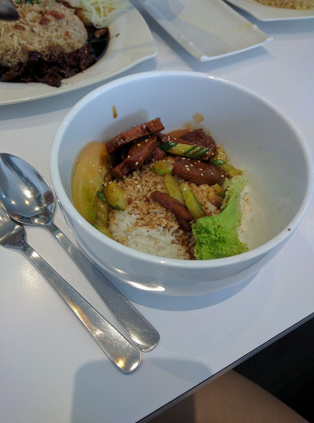 "Photo of The Garden Restaurant - Krystal Point  by <a href=""/members/profile/Summer_Tan"">Summer_Tan</a> <br/>Vegetarian Sweet & Sour Pork Ribs Rice - RM10.90 Just the average mock meat with meh sauce. Portion is small, esp for the price. Was not satisfying <br/> February 2, 2018  - <a href='/contact/abuse/image/53118/353823'>Report</a>"