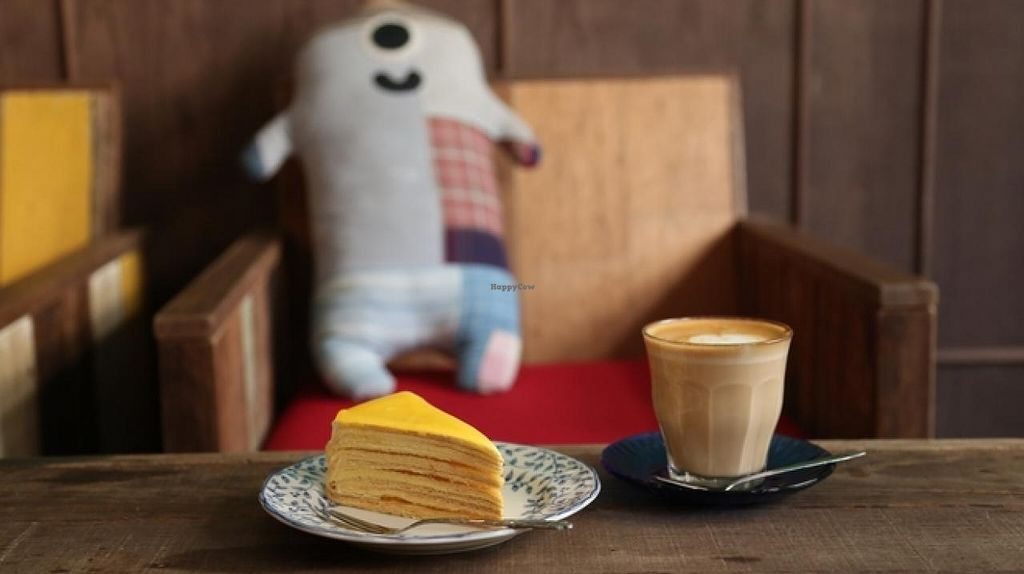 """Photo of CLOSED: Einstein Cafe  by <a href=""""/members/profile/OmegaTan"""">OmegaTan</a> <br/>enjoy their promotion,  buy any two coffee to get 1 mille crepes cake for free. environment is good <br/> November 22, 2014  - <a href='/contact/abuse/image/53125/86165'>Report</a>"""