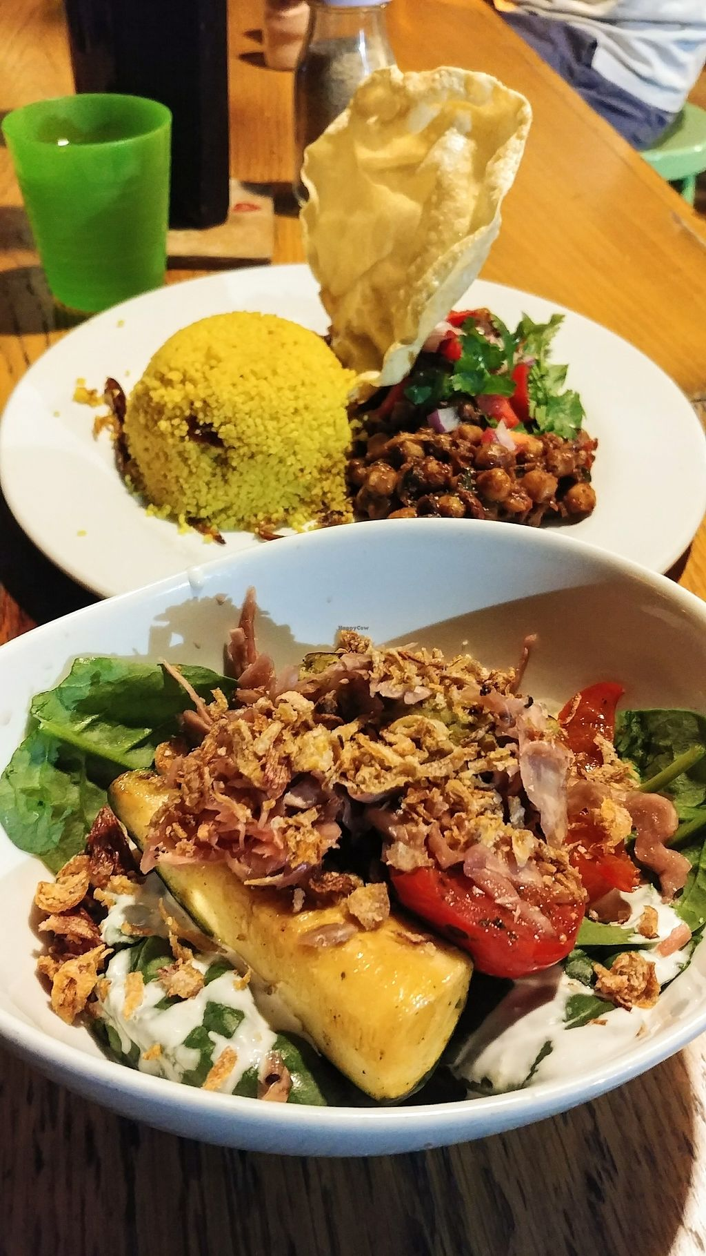 """Photo of Lentil As Anything - Abbotsford Convent  by <a href=""""/members/profile/karlaess"""">karlaess</a> <br/>Back: Moroccan Tagine Front: Buddha bowl <br/> April 3, 2018  - <a href='/contact/abuse/image/5313/380150'>Report</a>"""