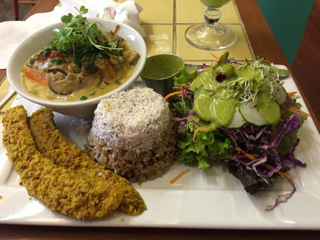 """Photo of Org Bistro  by <a href=""""/members/profile/vegpilot"""">vegpilot</a> <br/>main meal <br/> May 12, 2016  - <a href='/contact/abuse/image/53158/148669'>Report</a>"""