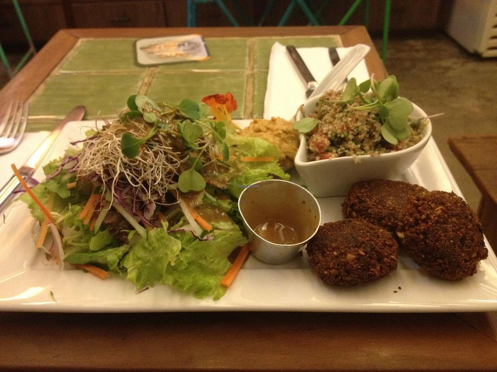 """Photo of Org Bistro  by <a href=""""/members/profile/vegpilot"""">vegpilot</a> <br/>One of the tasty mains <br/> March 20, 2015  - <a href='/contact/abuse/image/53158/96298'>Report</a>"""