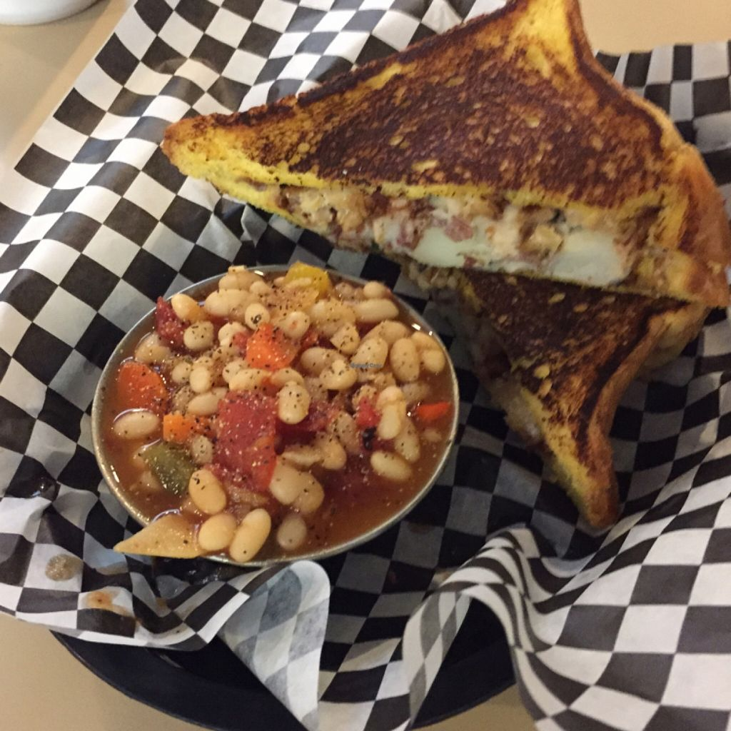 """Photo of BBQ4Life  by <a href=""""/members/profile/millavinilla"""">millavinilla</a> <br/>Potato salad and tempeh sandwich   <br/> December 25, 2015  - <a href='/contact/abuse/image/53174/129781'>Report</a>"""