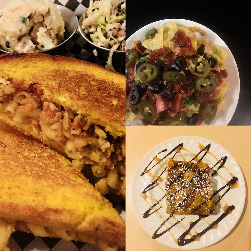 "Photo of BBQ4Life  by <a href=""/members/profile/ChereseTarter"">ChereseTarter</a> <br/>Vegan Foot Sandwich, Spicy Vegan Coleslaw, Vegan Potato Salad, Vegan Nachos and Vegan Bread Pudding <br/> November 20, 2017  - <a href='/contact/abuse/image/53174/327371'>Report</a>"