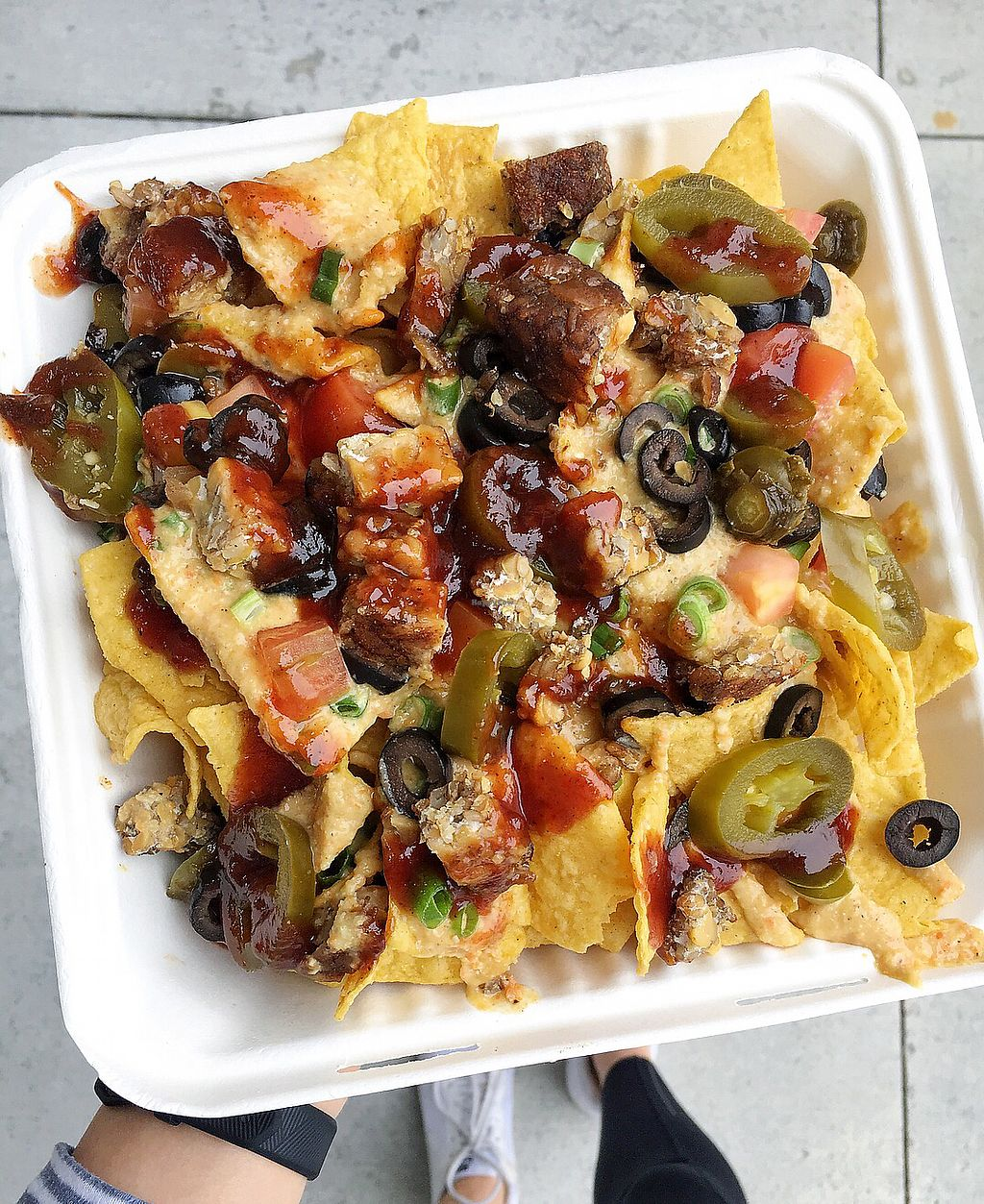 """Photo of BBQ4Life  by <a href=""""/members/profile/remyelysee"""">remyelysee</a> <br/>Nachos with added tempeh!  <br/> March 17, 2018  - <a href='/contact/abuse/image/53174/371888'>Report</a>"""