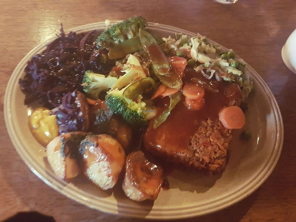 """Photo of The Jolly Farmer  by <a href=""""/members/profile/Chaizy"""">Chaizy</a> <br/>Nut roast carvery <br/> May 14, 2017  - <a href='/contact/abuse/image/53184/258787'>Report</a>"""