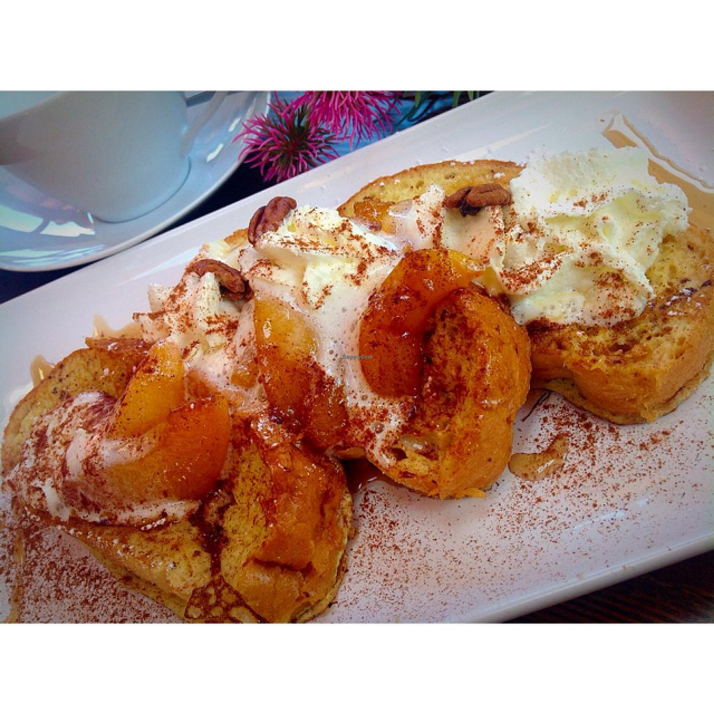 "Photo of The Crabapple Cafe  by <a href=""/members/profile/The%20Crabapple%20Cafe"">The Crabapple Cafe</a> <br/>French Toast Peaches And Cream <br/> May 15, 2015  - <a href='/contact/abuse/image/53191/102308'>Report</a>"