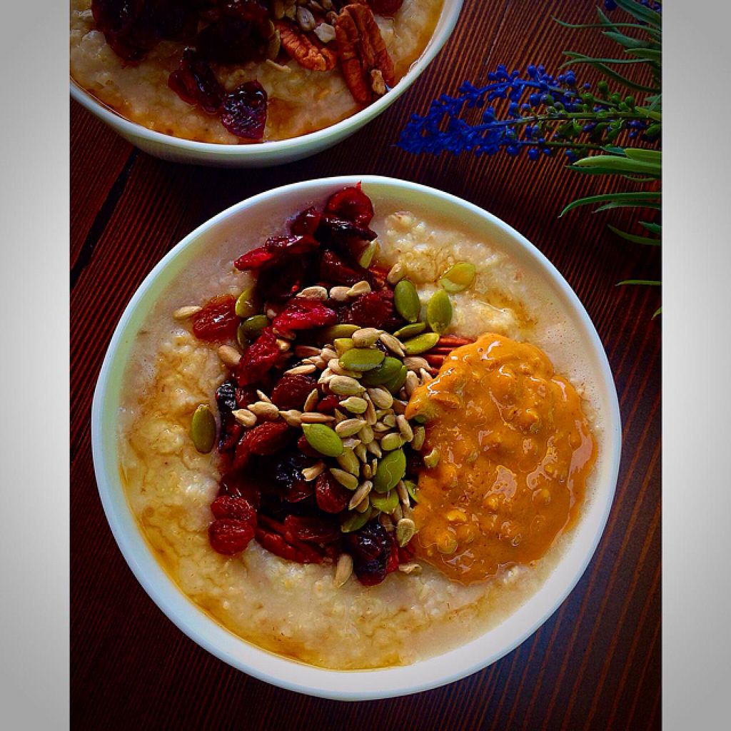 "Photo of The Crabapple Cafe  by <a href=""/members/profile/The%20Crabapple%20Cafe"">The Crabapple Cafe</a> <br/>Oatmeal loaded with seeds and dried fruit <br/> May 15, 2015  - <a href='/contact/abuse/image/53191/102309'>Report</a>"