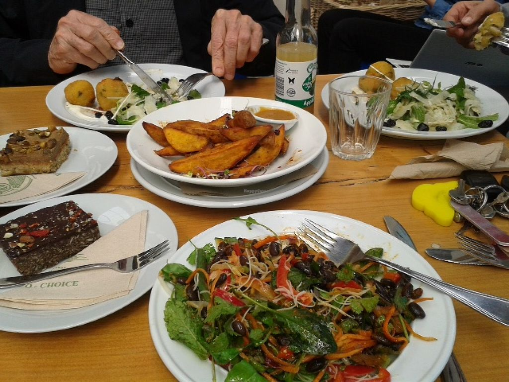 """Photo of East West Organics - New Lynn  by <a href=""""/members/profile/Veganswife"""">Veganswife</a> <br/>Varied organic menu. This was our lunch <br/> October 20, 2015  - <a href='/contact/abuse/image/53196/121913'>Report</a>"""