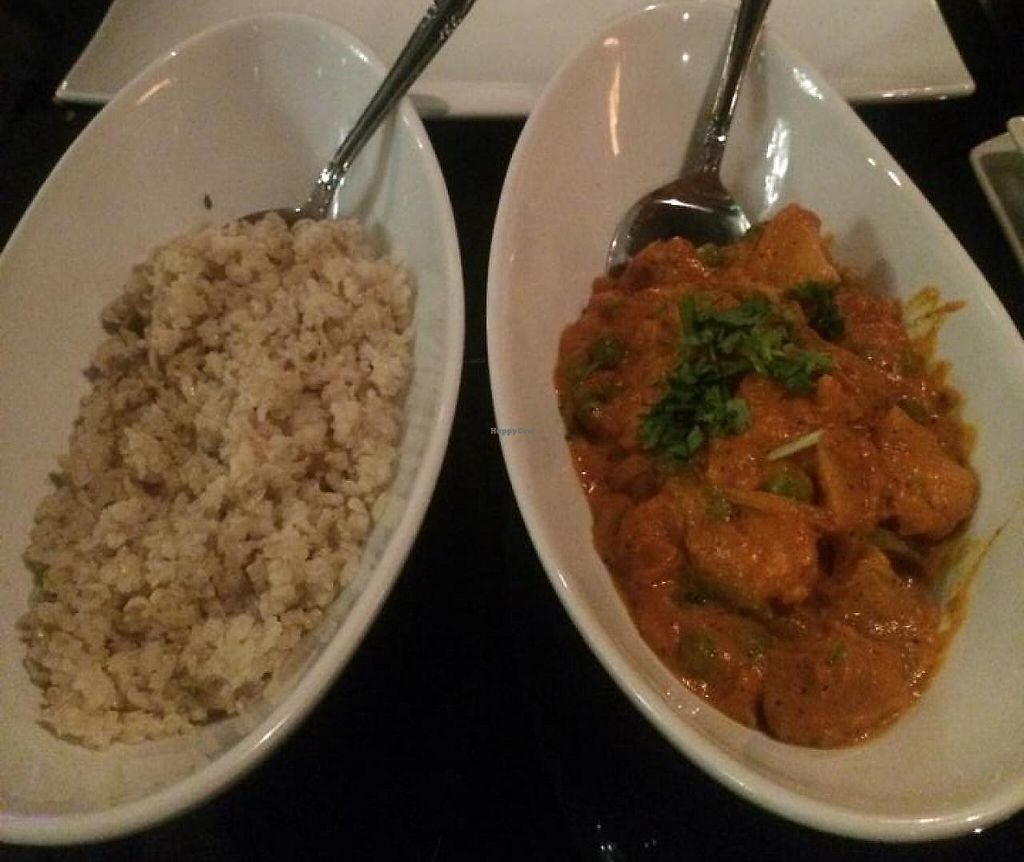 """Photo of Karma  by <a href=""""/members/profile/Meggie%20and%20Ben"""">Meggie and Ben</a> <br/>Vegetable tikka masala make with coconut milk instead of cream (vegan) <br/> November 21, 2014  - <a href='/contact/abuse/image/53222/231303'>Report</a>"""