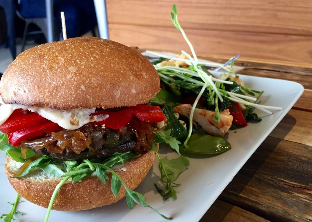 """Photo of Little River  by <a href=""""/members/profile/karlaess"""">karlaess</a> <br/>Mushroom burger  <br/> July 4, 2016  - <a href='/contact/abuse/image/53224/157833'>Report</a>"""
