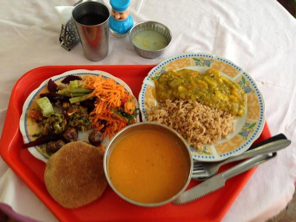 """Photo of Gopal Cochabamba - Central  by <a href=""""/members/profile/JurajKubelka"""">JurajKubelka</a> <br/>a typical menu for 20 Bs.   <br/> November 22, 2014  - <a href='/contact/abuse/image/53240/86191'>Report</a>"""