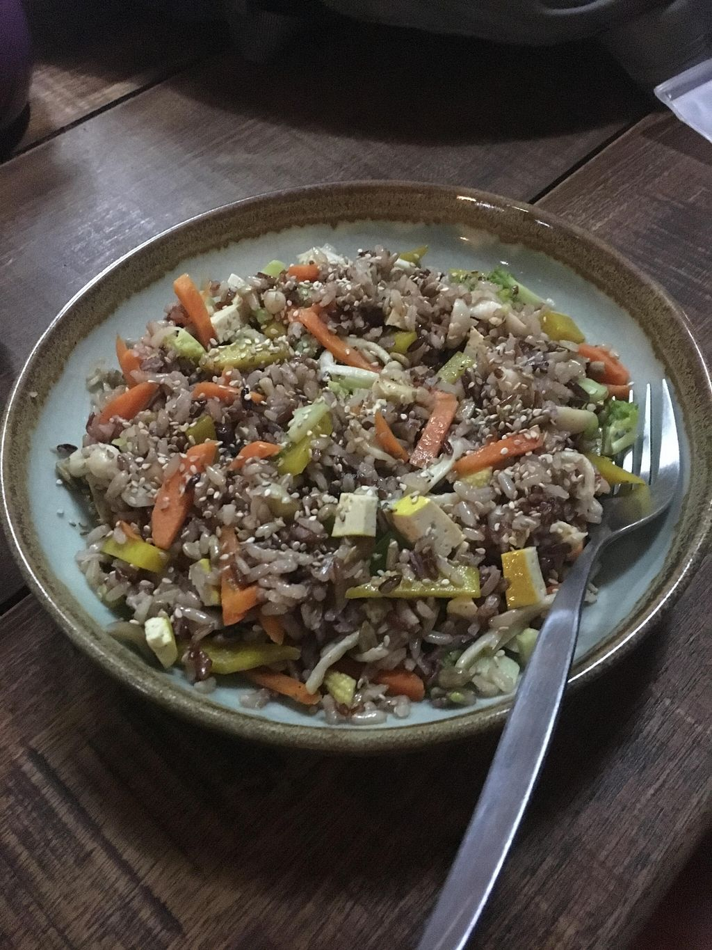 Photo of Akasha Home Restaurant  by lantern <br/>Stir fry brown rice w/beans,vegetables,nuts and sauce <br/> March 20, 2016  - <a href='/contact/abuse/image/53254/140696'>Report</a>