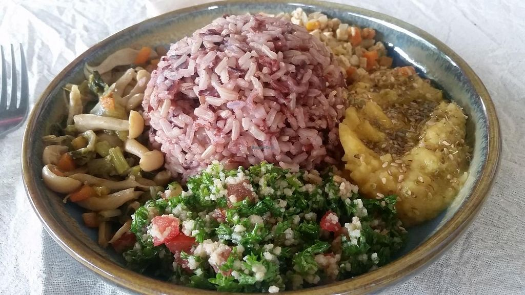 "Photo of Akasha Home Restaurant  by <a href=""/members/profile/kenvegan"">kenvegan</a> <br/>Macrobiotic veggie bowl <br/> February 15, 2015  - <a href='/contact/abuse/image/53254/93133'>Report</a>"