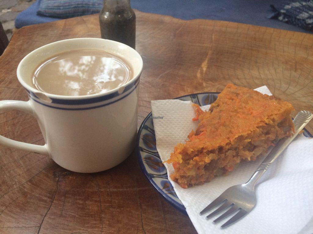 "Photo of Shambhala Cafe  by <a href=""/members/profile/monisonfire"">monisonfire</a> <br/>carrot cake & chai tea <br/> March 20, 2017  - <a href='/contact/abuse/image/53257/238590'>Report</a>"