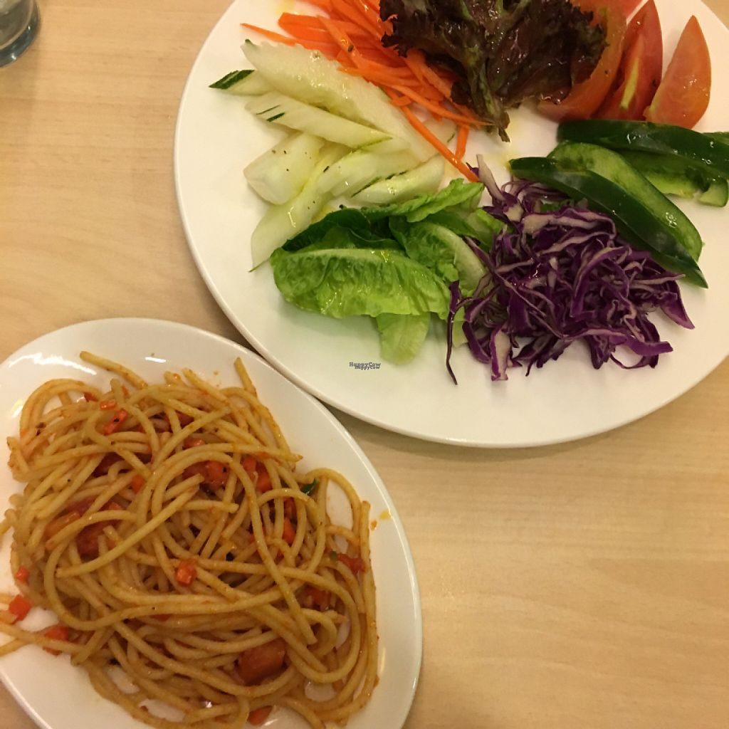 """Photo of Sky Hotel Kota Kinabalu - Green Table  by <a href=""""/members/profile/Spaghetti_monster"""">Spaghetti_monster</a> <br/>spaghetti and salad (weekend evening buffet) <br/> March 13, 2017  - <a href='/contact/abuse/image/53301/235739'>Report</a>"""