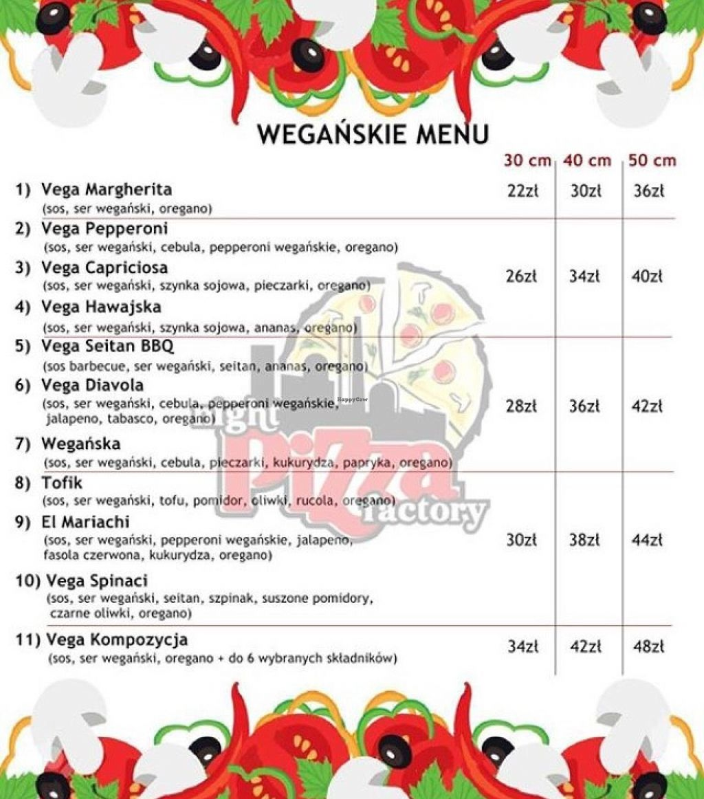 """Photo of Night Pizza Factory  by <a href=""""/members/profile/Vera%20Peres"""">Vera Peres</a> <br/>Separate vegan menu as of January 2015 <br/> January 6, 2015  - <a href='/contact/abuse/image/53386/89658'>Report</a>"""