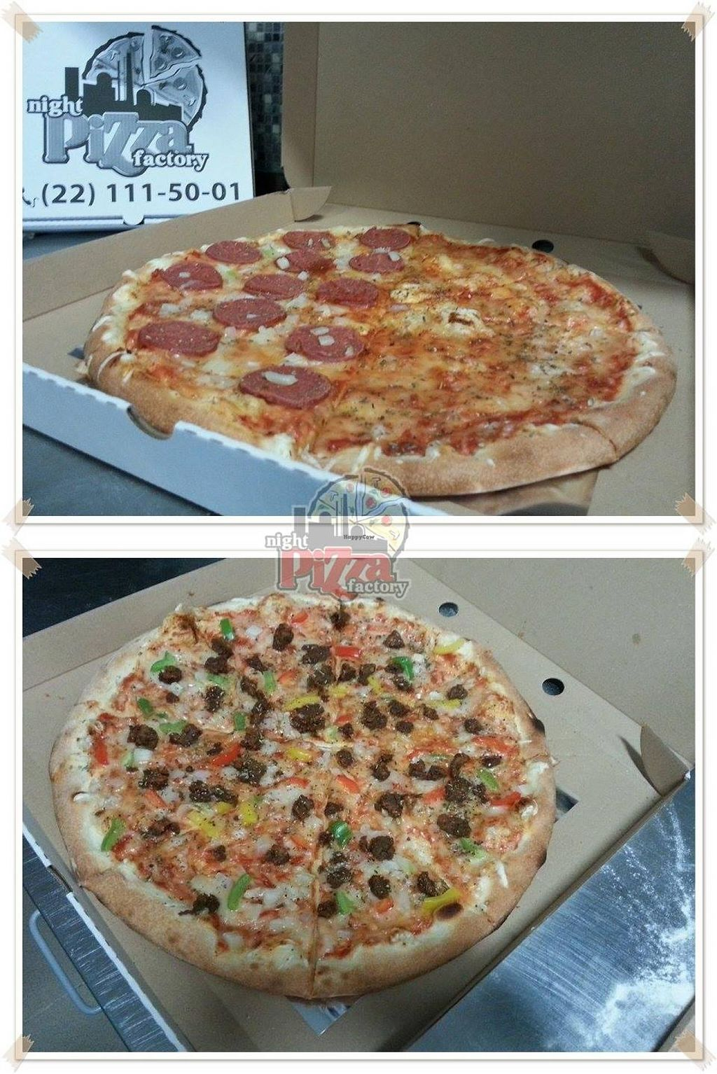 """Photo of Night Pizza Factory  by <a href=""""/members/profile/Vera%20Peres"""">Vera Peres</a> <br/>Vegan pizzas <br/> February 23, 2015  - <a href='/contact/abuse/image/53386/93889'>Report</a>"""