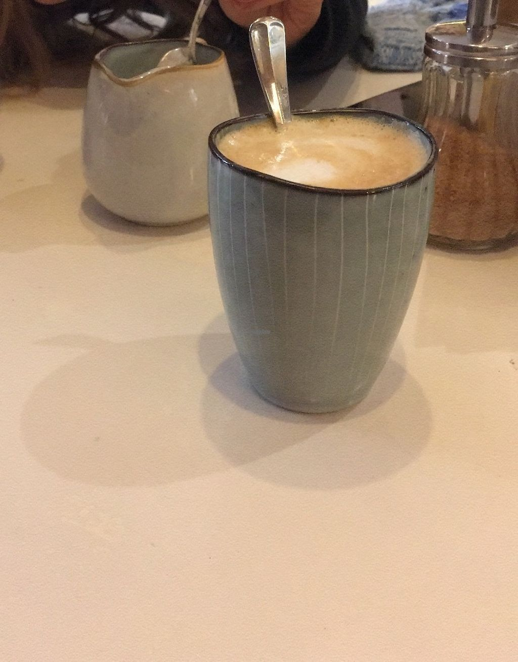 """Photo of Lavinia Good Food  by <a href=""""/members/profile/LouiseJT"""">LouiseJT</a> <br/>Lovely almond milk latte <br/> March 3, 2017  - <a href='/contact/abuse/image/53387/232144'>Report</a>"""