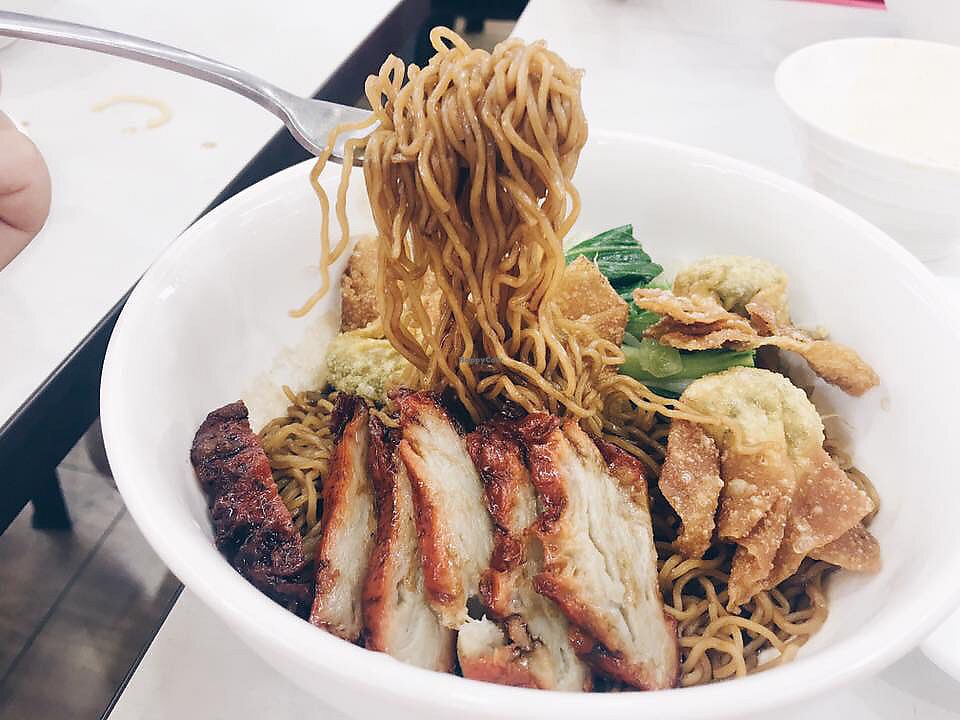 """Photo of Onn Vegetarian  by <a href=""""/members/profile/CherylQuincy"""">CherylQuincy</a> <br/>Char siew wanton Noodles <br/> January 18, 2018  - <a href='/contact/abuse/image/53410/347831'>Report</a>"""